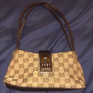 Vintage leather Gucci small shoulder bag